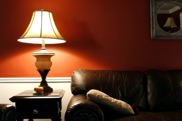 lamp and the couch